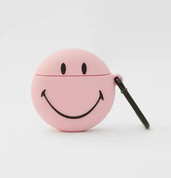 Ružičasto kućište za Airpod slušalice Smiley, 69 kn, Pull&Bear
