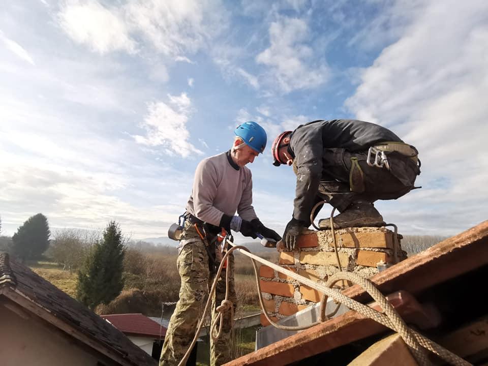 ninja krovnjače fixing chimney