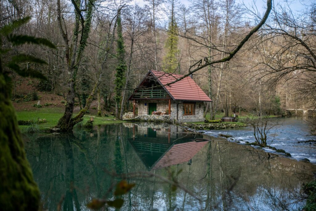 Bistrica Cottage croatia by the waterfall