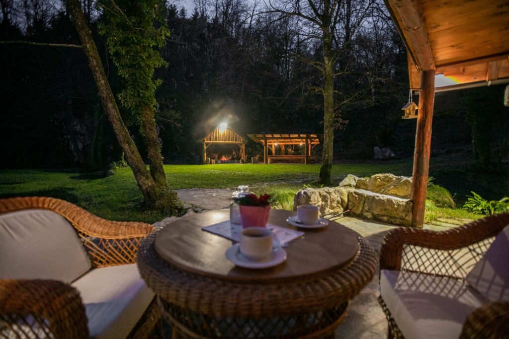 Bistrica Cottage croatia by night
