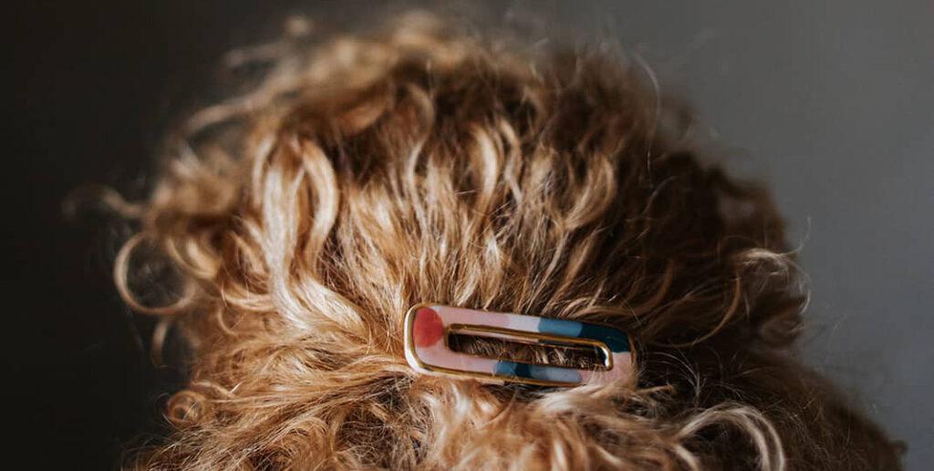 hair pin decoration curly hair