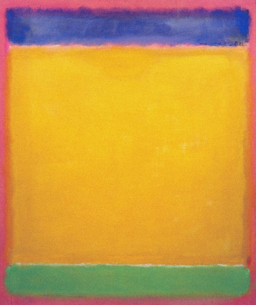 EX6C87 Mark Rothko Untitled (Blue, Yellow, Green on Red)