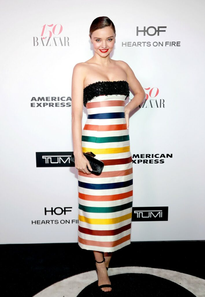WEST HOLLYWOOD, CA - JANUARY 27: Miranda Kerr attends Harper's BAZAAR celebration of the 150 Most Fashionable Women presented by TUMI in partnership with American Express, La Perla, and Hearts On Fire at Sunset Tower Hotel on January 27, 2017 in West Hollywood, California. (Photo by Rachel Murray/Getty Images for Harper's Bazaar)