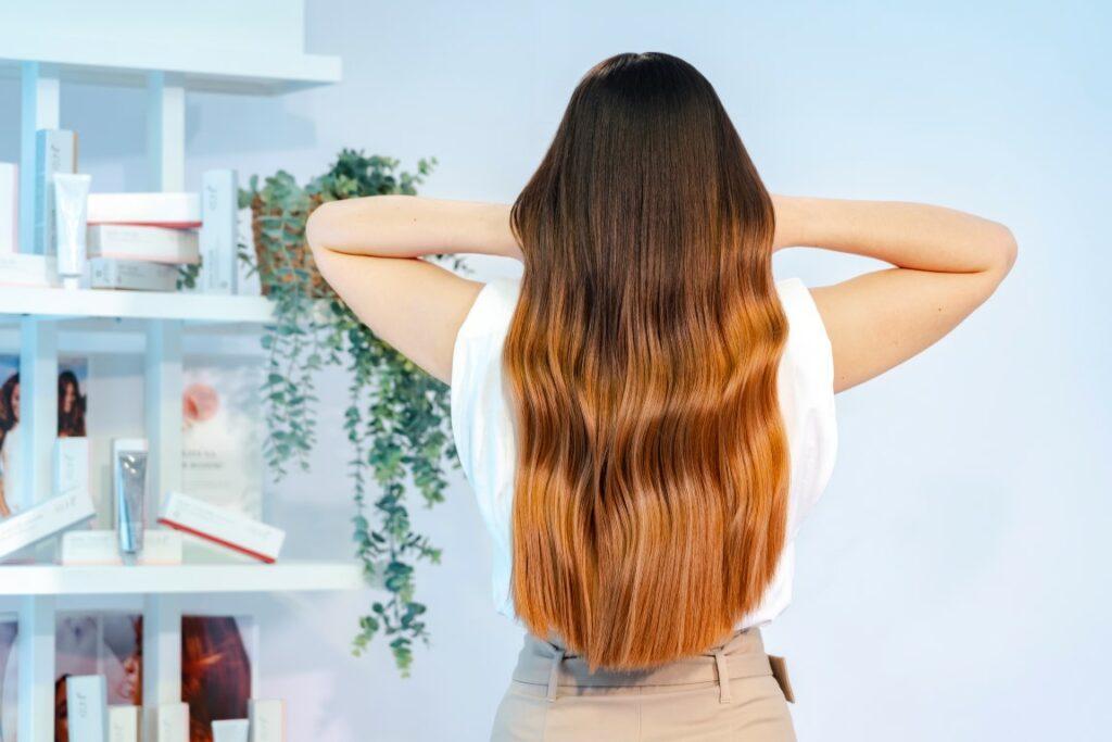 Semi Color Keune hair woman