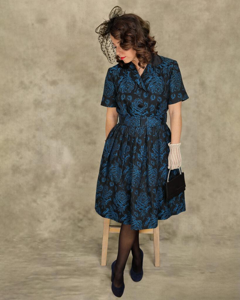 Haljina iz 50-ih, 36, 340 kn. Torbica 100 kn, Vintage Love