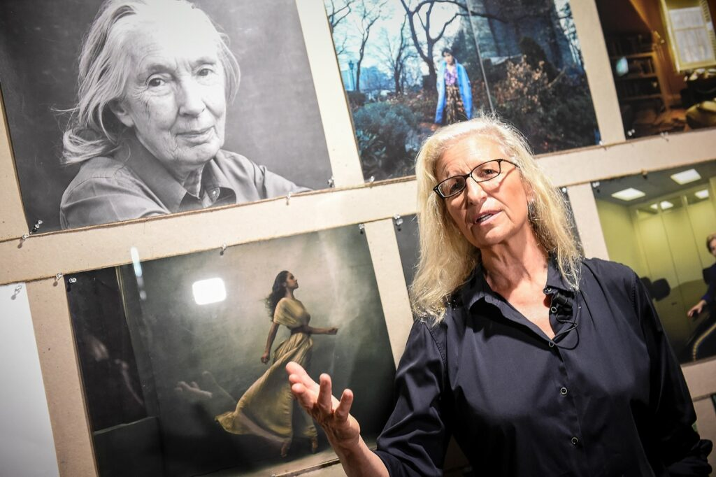 Annie Leibovitz attends the press conference of WOMEN: New Portraits By Annie Leibovitz, Commissioned By UBS on September 6, 2016 in Milan,