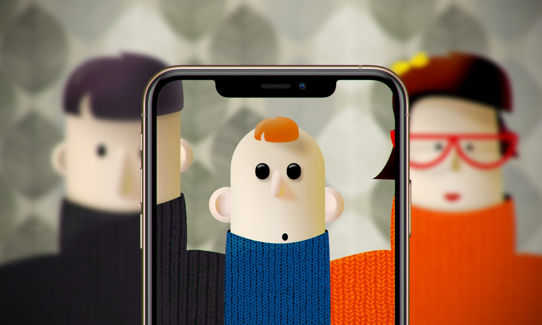 Got Your Nose - app by Infinum illustration c