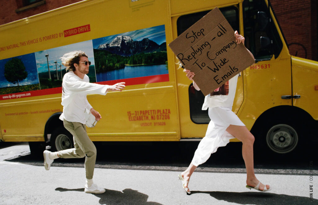 zara dude with sign campaign