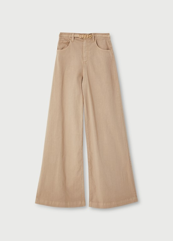 Liu Jo palazzo beige hlače 1.440 kn