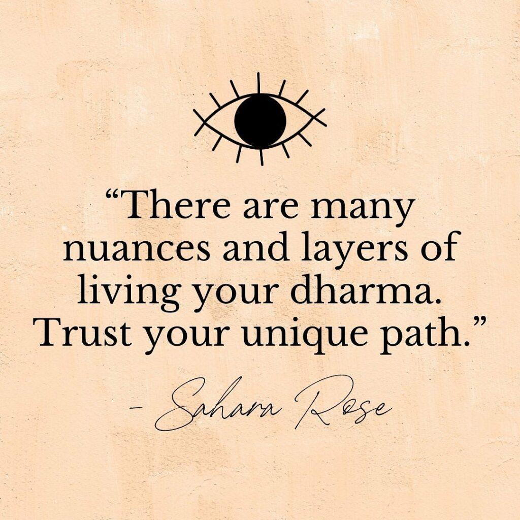 @iamsahararose obećaje vam otkriti vašu dharmu i svrhu. Donosi ples i milenijsku energiju s drevnim ayurvedskim praksam