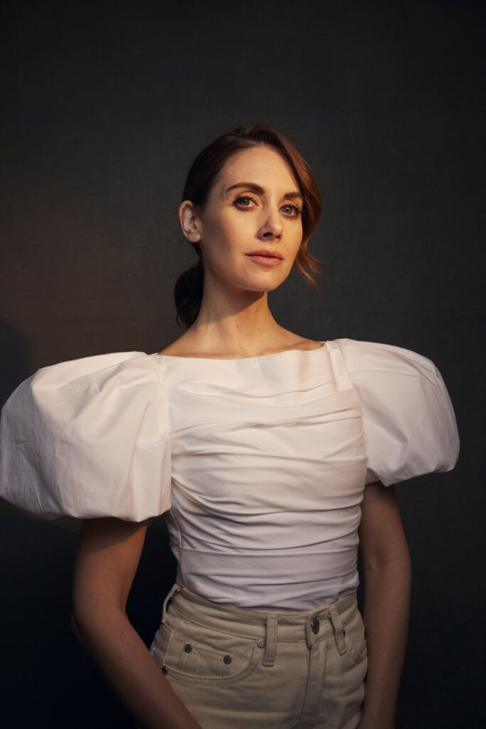 """Alison Brie poses for a portrait to promote the film """"Horse Girl"""" at the Music Lodge during the Sundance Film Festival on Sunday, Jan. 26, 2020, in Park City, Utah. (Photo by Taylor Jewell/Invision/AP)"""