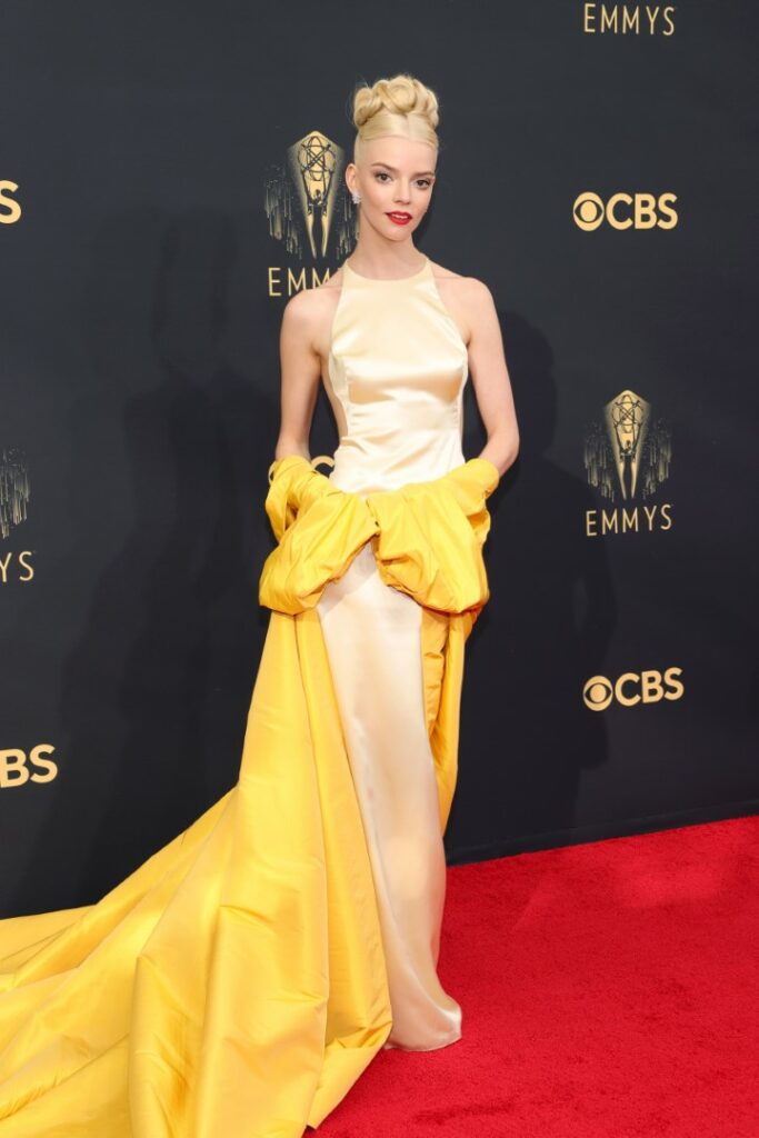 LOS ANGELES, CALIFORNIA - SEPTEMBER 19: Anya Taylor-Joy attends the 73rd Primetime Emmy Awards at L.A. LIVE on September 19, 2021 in Los Angeles, California. (Photo by Rich Fury/Getty Images)