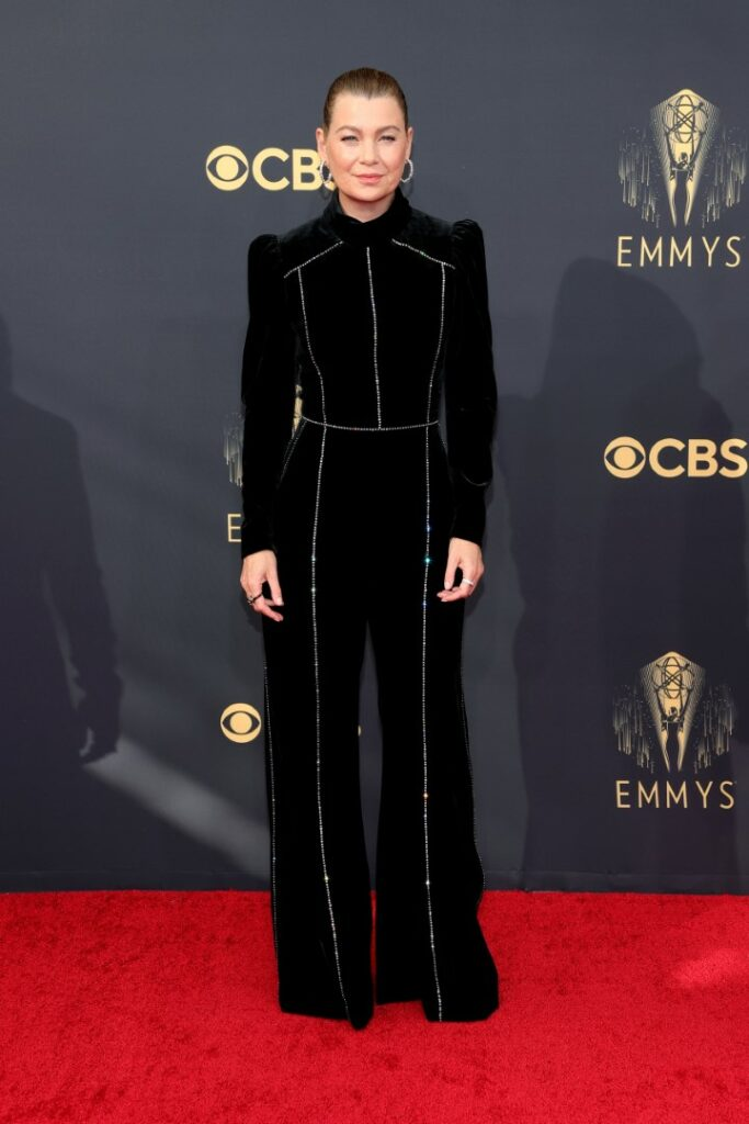 LOS ANGELES, CALIFORNIA - SEPTEMBER 19: Ellen Pompeo attends the 73rd Primetime Emmy Awards at L.A. LIVE on September 19, 2021 in Los Angeles, California. (Photo by Rich Fury/Getty Images)