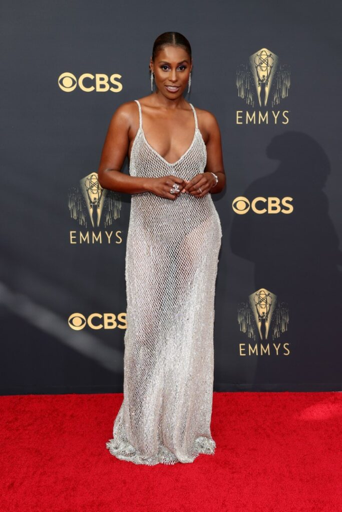 LOS ANGELES, CALIFORNIA - SEPTEMBER 19: Issa Rae attends the 73rd Primetime Emmy Awards at L.A. LIVE on September 19, 2021 in Los Angeles, California. (Photo by Rich Fury/Getty Images)
