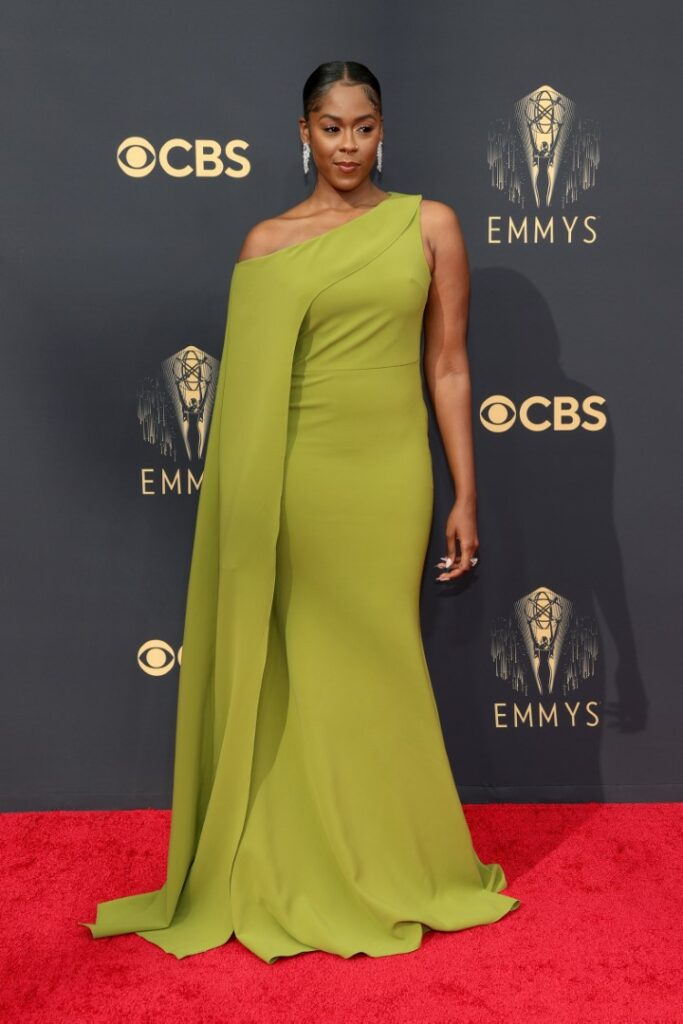 LOS ANGELES, CALIFORNIA - SEPTEMBER 19: Moses Ingram attends the 73rd Primetime Emmy Awards at L.A. LIVE on September 19, 2021 in Los Angeles, California. (Photo by Rich Fury/Getty Images)
