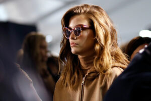 MILAN, ITALY - FEBRUARY 23: Isabeli Fontana is seen backstage ahead of the Max Mara show during Milan Fashion Week Fall/Winter 2017/18 on February 23, 2017 in Milan, Italy. (Photo by Tristan Fewings/Getty Images)